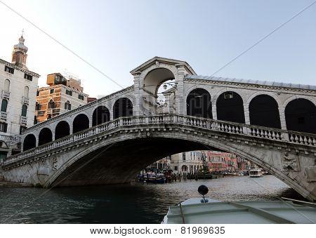 Rialto Bridge And The Grand Canal In Venice