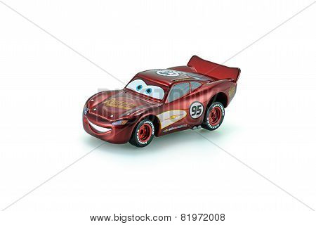 Radiator Springs Lighting Mcqueen A Protagonist Of The Disney Pixar Feature Film Cars.