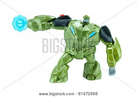 Bulkhead  Toy Character From Transformers Prime Animation Series.
