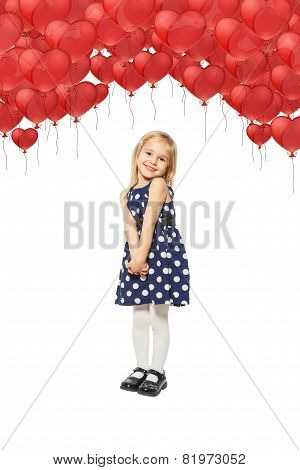 Girl And Many Balloon