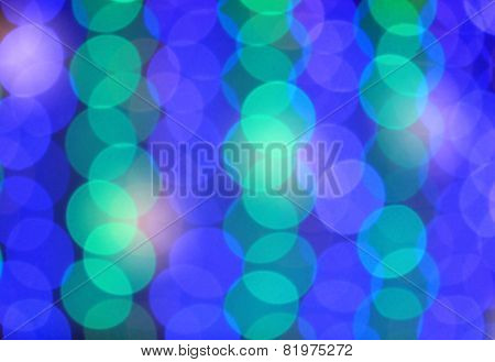Festive blue and green background with boke effect