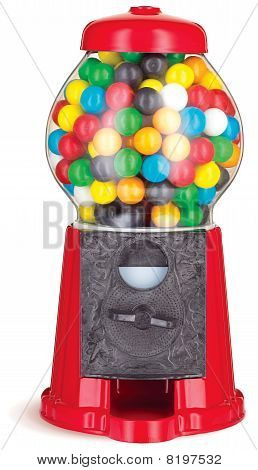 Colorful Gumball Chewing Gum Dispenser Machine
