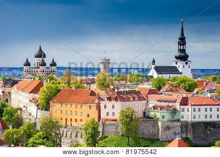 Cityscape Of Tallinn. Estonia