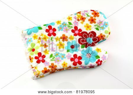 Oven Glove Mitt Isolated On White Background