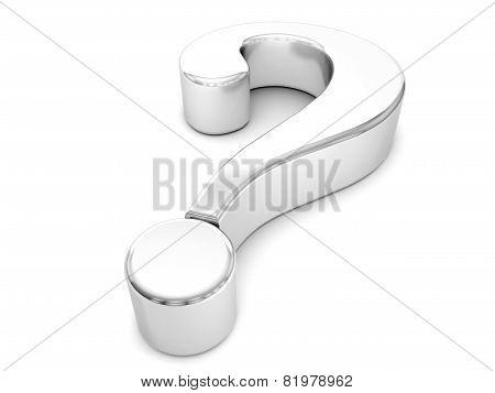Silver Question Symbol