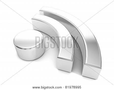 Silver Rss Symbol