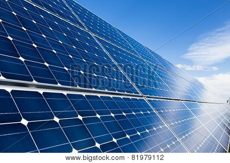 Solar Panels Closeup