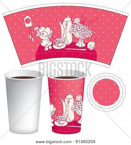 Paper cup of tea