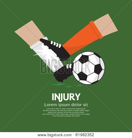 Football Player Make Injury To An Opponent.