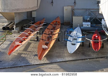 Racing Rowing Boats