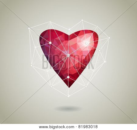 Abstract Polygonal Heart