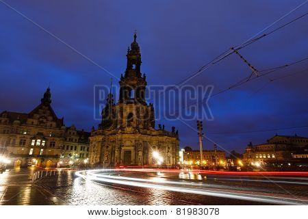 Night View Of Hofkirche