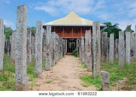Ruins of Bronze Palace - Loha Pasadena in Anuradhapura