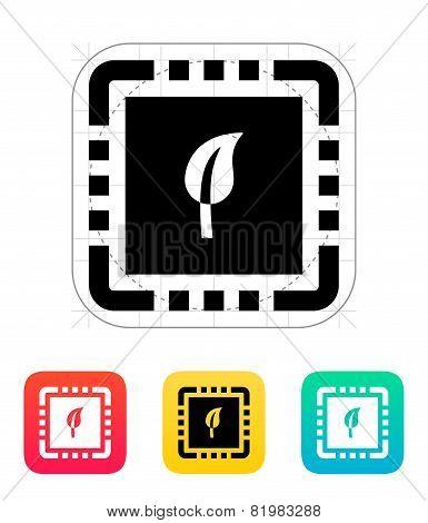 Eco CPU icon. Vector illustration.