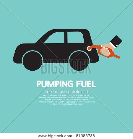 Pumping Fuel Vector Illustration