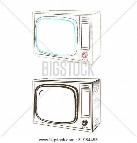 Separate Image Retro Tv Made In The Thumbnail Style