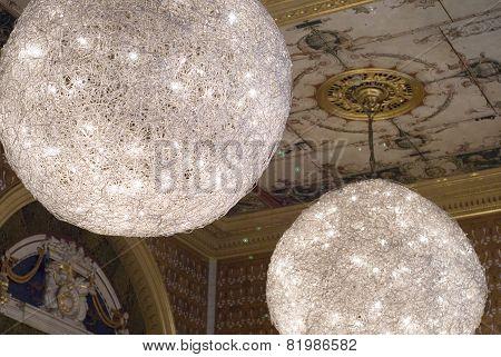 Light fixtures, The Victoria & Albert Museum, London