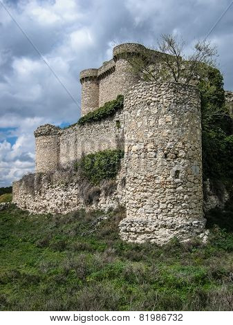 Ruins Of A Castle In Sesena, Castilla La Mancha, Spain