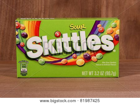 Box Of Sour Skittles Candy