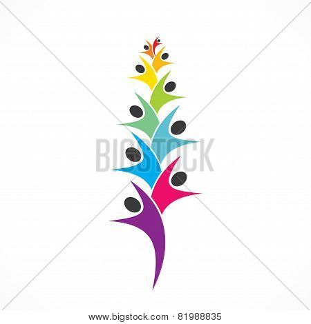 people team icon or people arrange in row design concept vector