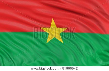 3D Burkina Faso flag
