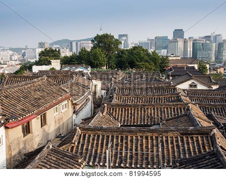 Old Korean roof