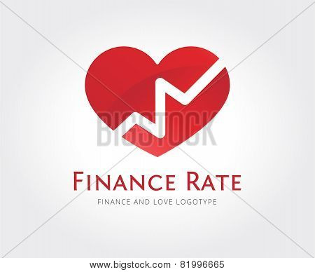 Abstract love rate vector logo template for branding and design