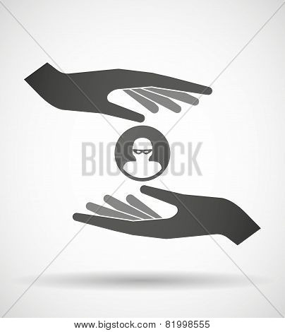 Hands Protecting Or Giving A Thief Avatar