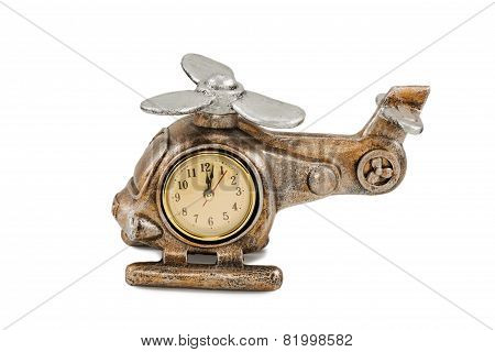Clock In Form Of Helicopter