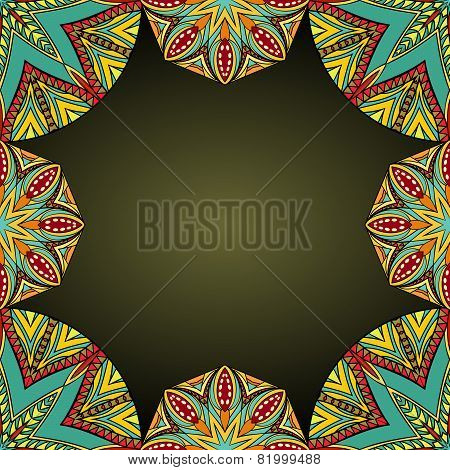 Oriental Style Background With Bright Elements