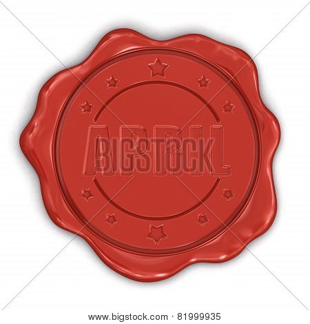 Wax Stamp april (clipping path included)