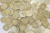 stock photo of shekel  - This picture shows a lot of coins - JPG