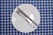 image of table manners  - When you finish meal put your silverware in this way - JPG