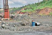 stock photo of iron ore  - Iron ore opencast mining  - JPG