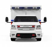 stock photo of ambulance car  - Ambulance Car isolated on white background - JPG