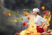 image of ingredient  - A disgruntled chef is shouting at somebody - JPG