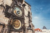 Постер, плакат: Astronomical Clock In Prague Czech Republic