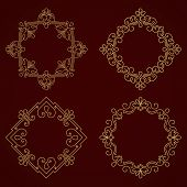 picture of damask  - Vector ornamental round lace with damask and arabesque elements - JPG
