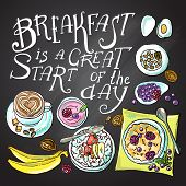 stock photo of fresh start  - Breakfast is a great start of the day - JPG