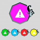 stock photo of hazard symbol  - Attention sign icon - JPG