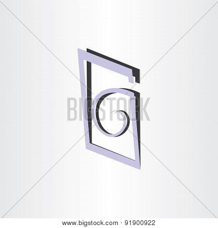 Letter G Abstract Symbol Design