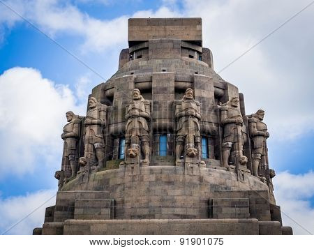 Monument to the Battle of the Nations (1813) (Voelkerschlachtdenkmal), Leipzig, Germany, designed by German architect Bruno Schmitz (1913)