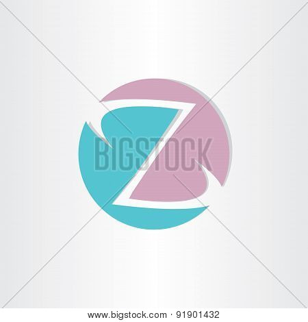 Letter Z In Circle Icon
