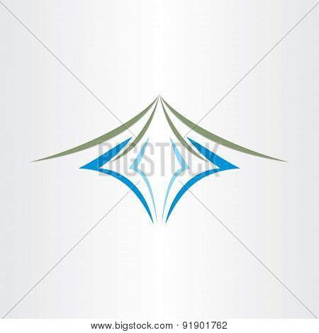 Mountain And River Stylized Design