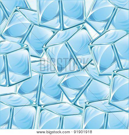 Ice design over blue background vector illustration