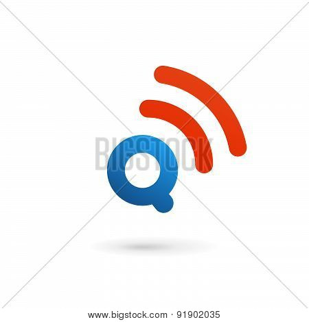Letter Q Wireless Logo Icon Design Template Elements
