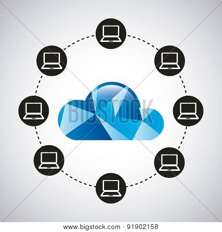 Technology design over gray backgroundvector illustration
