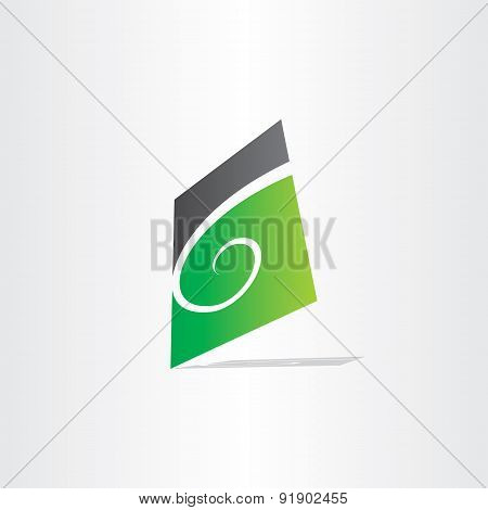 Stylized Letter G Green Icon