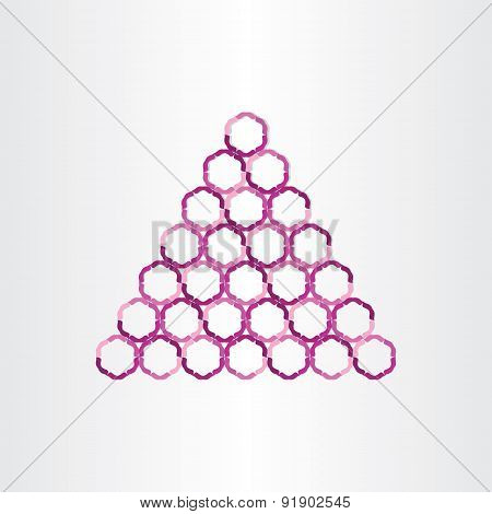 Triangle Abstract Background With Circles