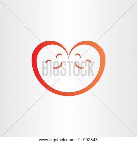 Twins Babies Smile Heart Shape Love Icon